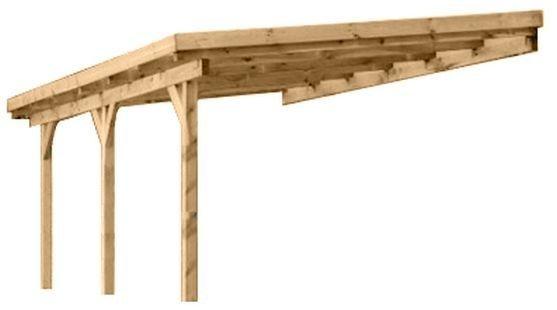 Wiata przyścienna garażowa drewniana 300 x 500 cm