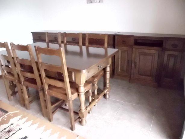Moveis de sala em madeira maciça