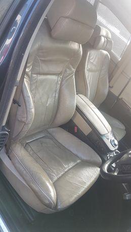 Wnętrze fotele kanapa boczki indyvidual komfort zółte BMW E65