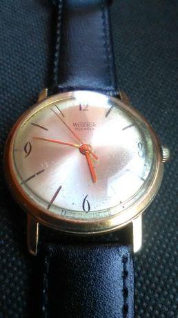 Zegarek Wostok 18 jewels pozłacany.