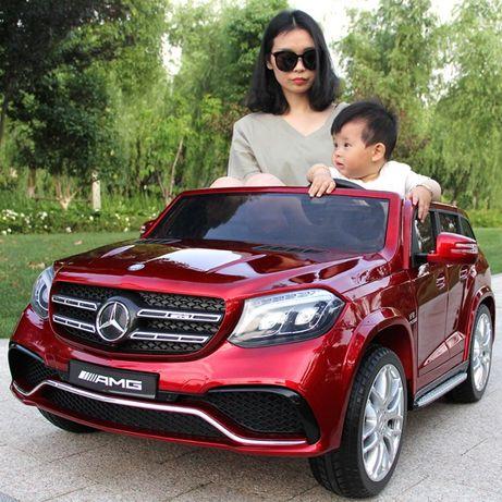 Супер Детский электромобиль Mercedes M 3565 EBLRS-3: 2xМеста, EVA,кожа