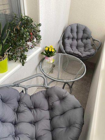 Комплект HAVANA, садовая мебель, мебель из ротанга, кресло на балкон