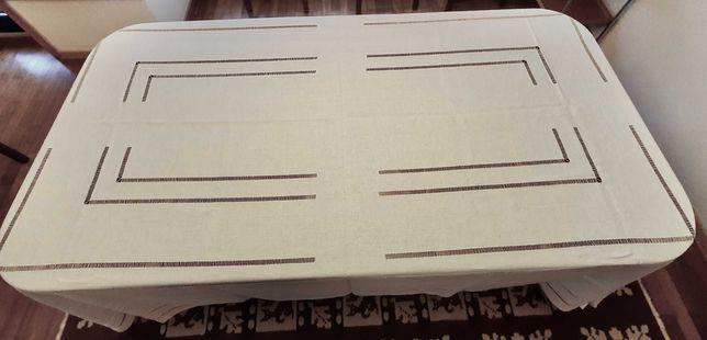 Toalha de mesa em Linho NOVA + 12 guardanapos