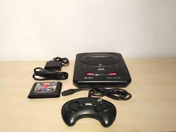 SEGA Mega Drive II com 3 jogos