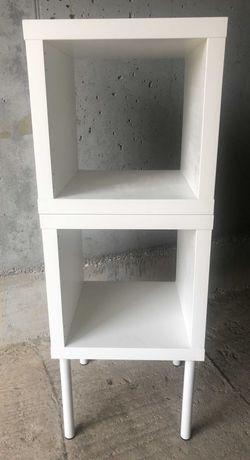 _ _ IKEA 2x KALLAX - Biały Słupek Szafka Regał Komoda Półki - 50% ceny