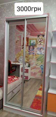 Шкаф-купе в детскую для девочки.