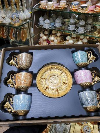 Шикарные кофейные сервизы, фарфор Производство:Турция