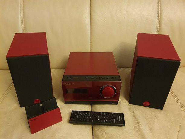 mini wieża Pioneer X-CM32BT-R czerwona z ładowaniem telefonu