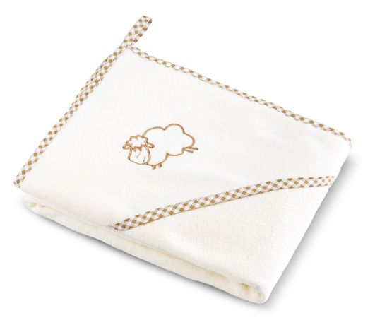 Bocioland Okrycie Kąpielowe Ręcznik Z Kapturkiem 80X80Cm Beige 0035