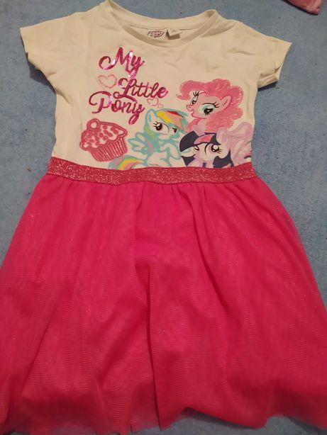 Śliczna Sukienka my Little ponny tiulowa cekiny primark 92 98