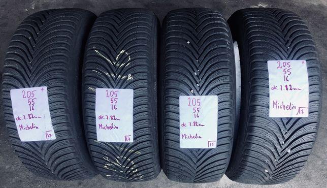 P.nowe Opony zimowe 205/55/16 Michelin. 7,9mm, 17/18rok. Montaż/wysyłk