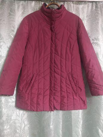 Куртка осінь весна бордового кольору