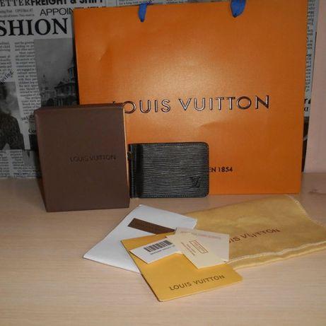 KLIP DO pieniandze PORTFEL MĘSKI Louis Vuitton , skóra, Francja 023