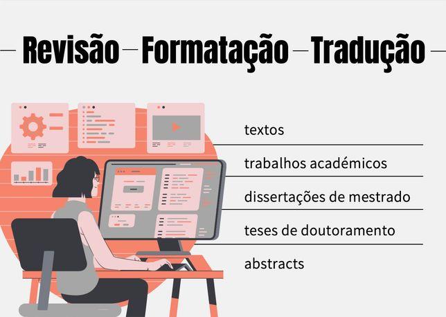 Revisão/Formatação de trabalhos académicos/dissertações/teses/ensaios