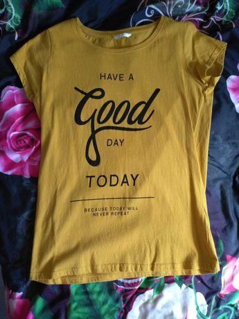 Koszulka damska kolor miodowy z napisem