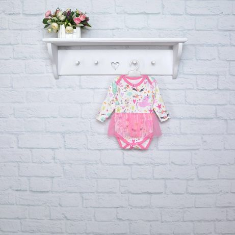 Боди / платье единорожки интерлок для новорожденных