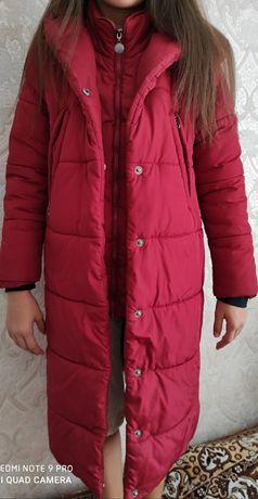 Пальто зимнее на девочку, рост 146 см, 10-11 лет