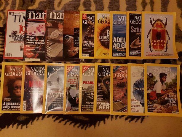 Revistas National Geographic, Nature e Time