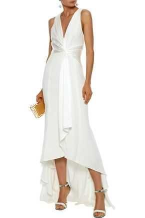 Vestido de cerimónia comprido branco