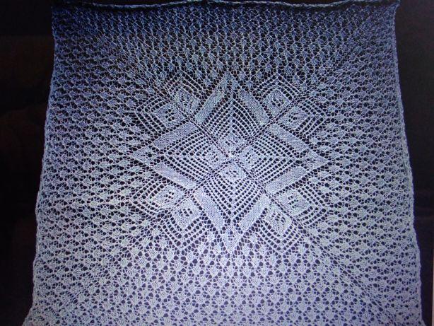 Obrus, serweta ręcznie robione na drutach