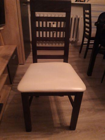 Krzesła wenge obite ekoskórą