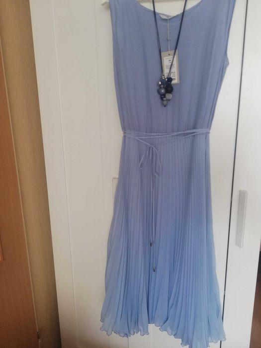 Komplet -Sukienka błękitna plisowana plus sweterek r. 44 Tatuum Szczecin - image 1