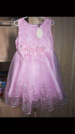 Nowa sukienka 130 rozowa