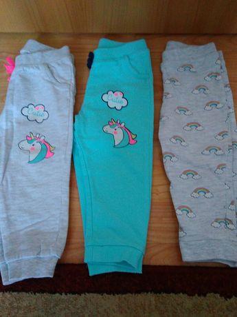 Spodnie niemowlęce 3 sztuki