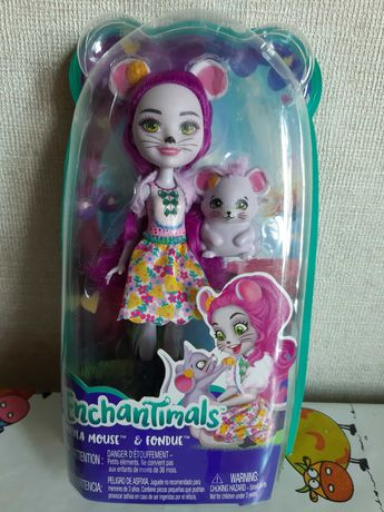 Кукла НОВАЯ Enchantimals (Энчайтимолс) Мышка