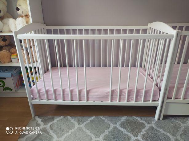 Łóżeczko dziecięce białe 120x60