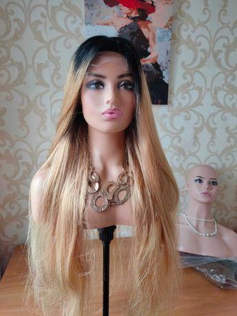 Натуральный парик из 100% натуральных славянских волос 90 см