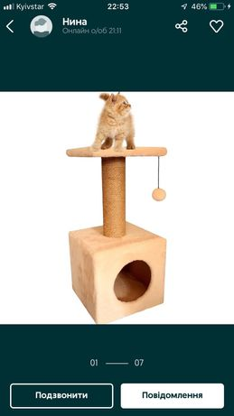 Хатинка для кота/Когтетка/Дряпка (тигрова)