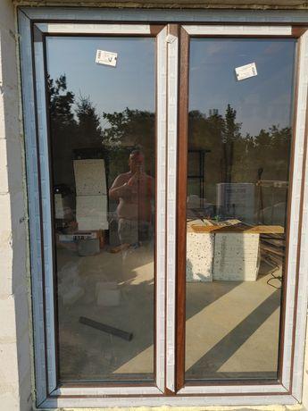 Okno Tarasowe ruchomy słupek 150x210 -R-RU kilor orzech .Nowe