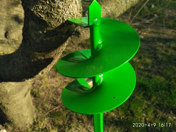 Бур ручной садовый земляной диаметр 150 мм. Спец.сталь