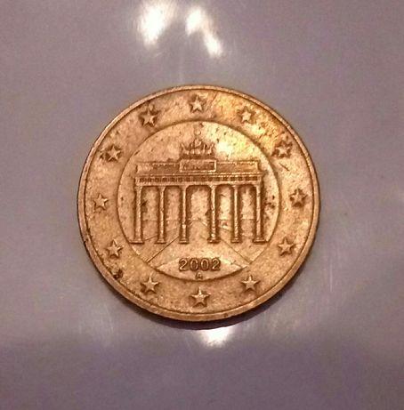 монета 10 євро цент 2002 року