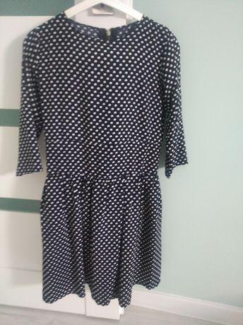 Sukienka pin up rozkloszowana groszki 36
