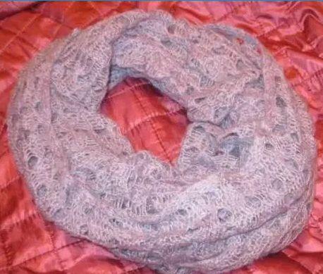 шарфик шарф махер хомут фиолетовый сиреневый нежный демисезонный