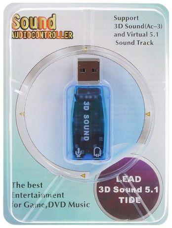 Звукова карта зовнішня USB 3D адаптер звукової карти 5.1 DOXI Pro
