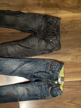 Spodnie chłopięce jeansowe z C&A roz.104- 2 pary