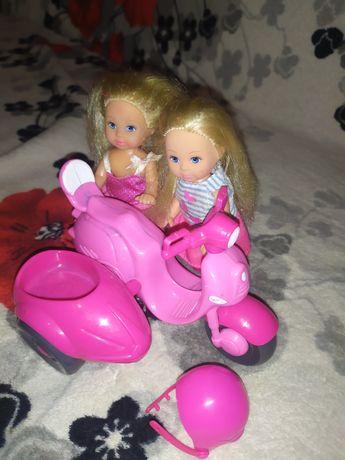 Куклы пупсы simba одним лотом мотоцикл куколки