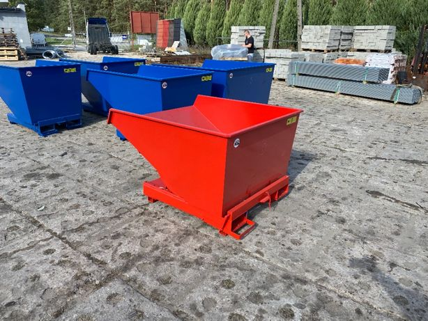Kontener 900 L do wózka na widły pojemnik koliba
