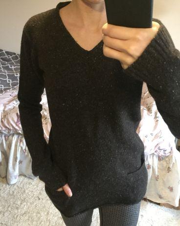 Sweter sweterek wełna wełniany z kaszmirem Sandra Pabst 38 M