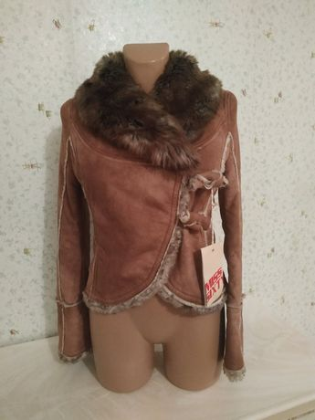 Шуба дублёнка куртка для подростка девочки новый