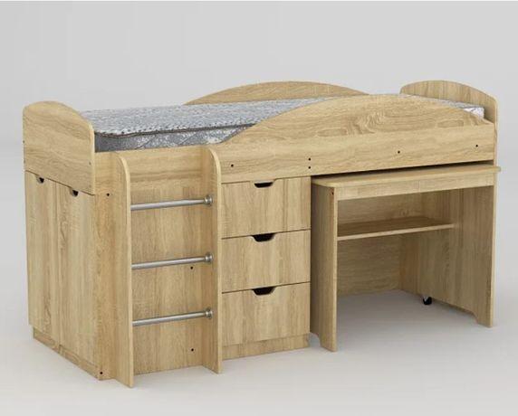 Ліжко-гірка Компаніт Універсал 70х190 см дуб сонома