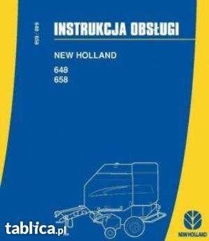Instrukcja obslugi, katalog części prasa new holland