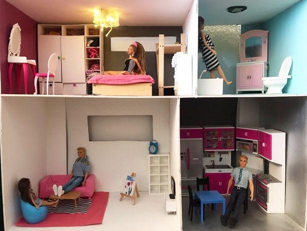 Domek dla Barbie duży ze sklejki - bez mebli