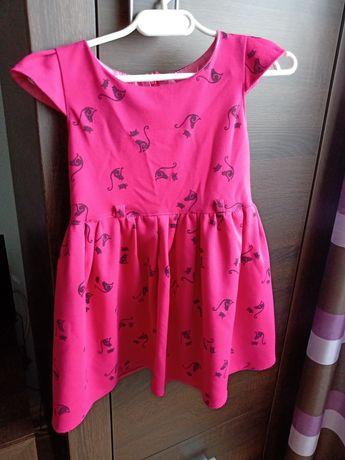 Sukienka rozmiar 98 krótki rękaw