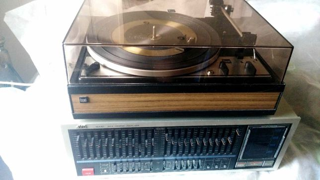 Dual 1214 , HI-END эквалайзер JVS SEA R-7 , виниловые пластинки