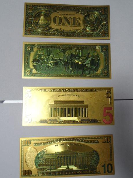 banknoty pozłacane dolary Donald Trump zestaw 8 szt.