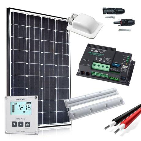 Zestaw solarny PREMIUM 100W MPPT słoneczny KAMPER Kempingowa Jacht